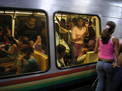 Groping on trains and buses